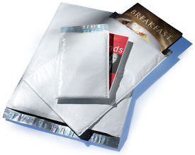 "Size (#2) 8.5""x11"" Poly Bubble Mailer with Peel-N-Seal"