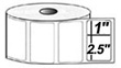 """Zebra Compatible 2.5""""x1"""" Direct Thermal Labels (1,375 per roll)"""