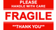 "3""x5"" Glossy Fragile Adhesive Shipping Labels"