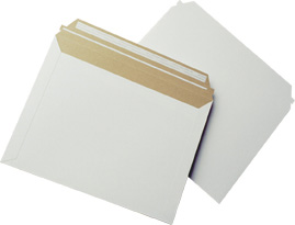 """Size 12.5""""x9.5"""" Lightweight White Rigid Mailer with Peel-N-Seal"""